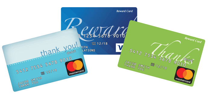 reward program cards - Prepaid Rewards Card